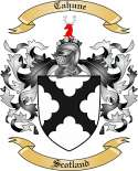 Cahune Family Coat of Arms from Scotland