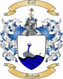Cail Family Crest from Ireland