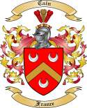 Cain Family Coat of Arms from France