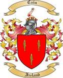 Cain Family Crest from Ireland