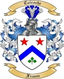 Cairoche Family Coat of Arms from France
