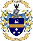 Calabrese Family Coat of Arms from Italy