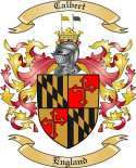 Calbert Family Coat of Arms from England