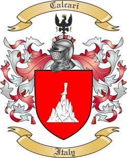 Calcari Family Crest from Italy