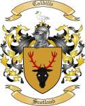 Caldille Family Coat of Arms from Scotland