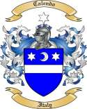 Calendo Family Coat of Arms from Italy