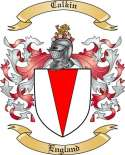 Calkin Family Coat of Arms from England
