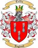 Callis Family Coat of Arms from England