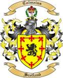 Calmains Family Crest from Scotland