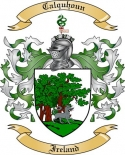 Calquhoun Family Crest from Ireland