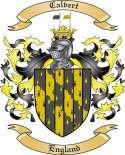 Calvert Family Crest from England2