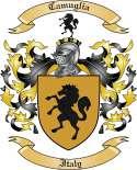 Camalieri Family Crest from Italy