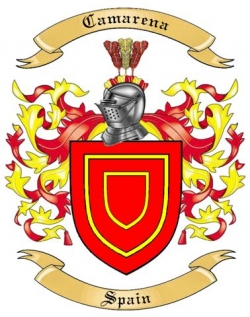 camarena family crest from spain by the tree maker