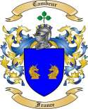 Cambeur Family Coat of Arms from France