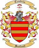 Cambrin Family Crest from Scotland
