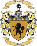 Camila Family Coat of Arms from Italy