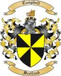 Campbell Family Crest from Scotland
