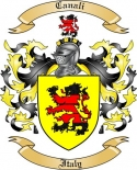 Canali Family Coat of Arms from Italy