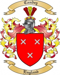 Candey Family Crest from England