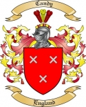 Candy Family Coat of Arms from England