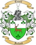 Canell Family Coat of Arms from Ireland