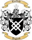 Canfield Family Coat of Arms from England