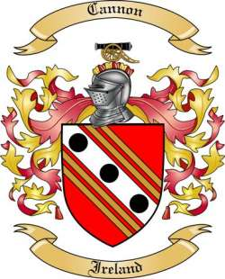 Cannon Family Coat of Arms from Ireland