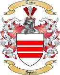 Cano Family Crest from Spain