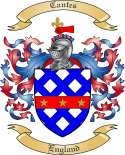 Cantes Family Crest from England
