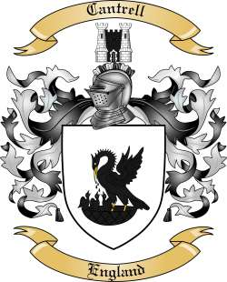 cantrell family crest from england by the tree maker