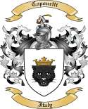 Caponetti Family Coat of Arms from Italy