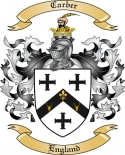 Carber Family Coat of Arms from England