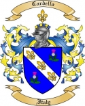 Cardello Family Crest from Italy