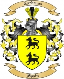 Cardenas Family Crest from Spain