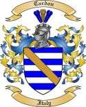 Cardon Family Crest from Italy
