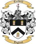 Cardvill Family Crest from England