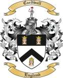 Cardwell Family Coat of Arms from England