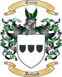 Caren Family Coat of Arms from Ireland