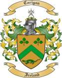 Carigan Family Coat of Arms from Ireland