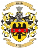 Carle Family Coat of Arms from France
