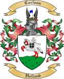 Carlson Family Crest from Holland