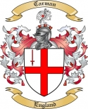 Carman Family Crest from England