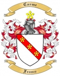 Carme Family Coat of Arms from France