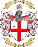 Carmen Family Crest from England