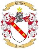 Carmes Family Crest from France