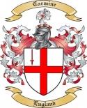 Carmine Family Coat of Arms from England