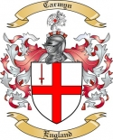 Carmyn Family Coat of Arms from England
