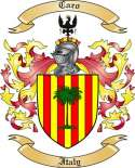 Caro Family Coat of Arms from Italy