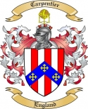 Carpentier Family Crest from England