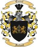Carrel Family Coat of Arms from Ireland
